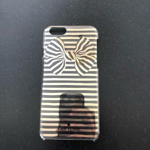 Kate spade gold stripe bow IPhone 6/6s case